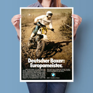BMW R80 GS Rolf Witthöft ISDT Six Days | Poster