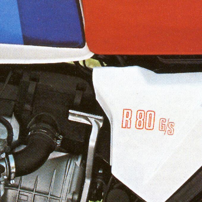 BMW R80GS detail