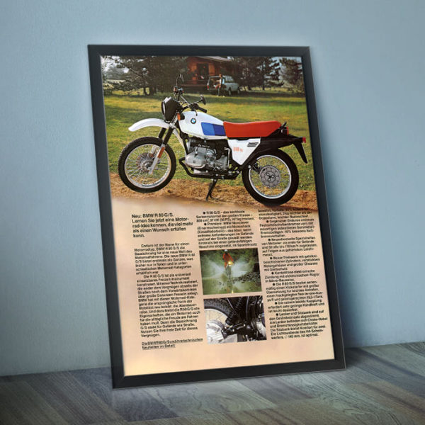 BMW R80G/S framed (not included!)
