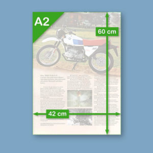 BMW R80G/S Alpinweiss 'spec sheet' | Poster