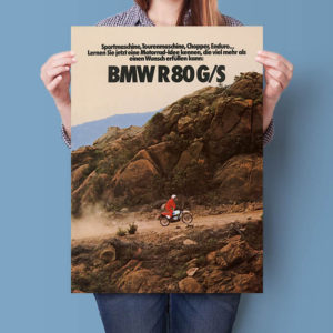 BMW R80 G/S Off Road enduro brochure | Poster