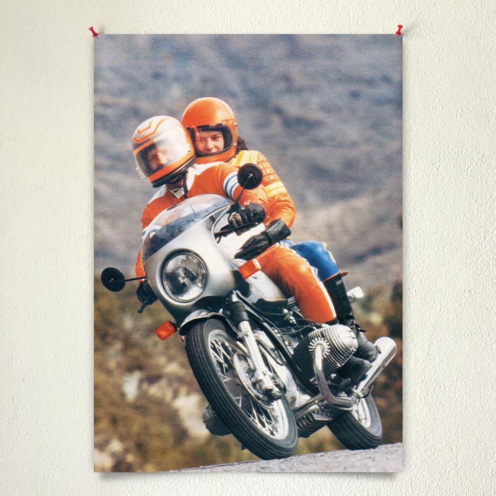 Vintage BMW R100 poster