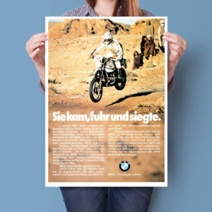 BMW R80 GS Hubert Auriol Paris-Dakar | Poster