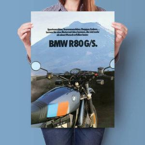 BMW R80 G/S Blue Enduro | Poster