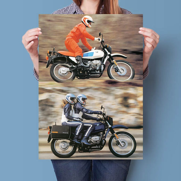 BMW R80 G/S airhead poster