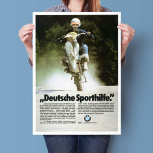 BMW R80 GS International Six Days Enduro | Poster