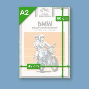 1975 Clymer Service Repair Handbook BMW R Twins | Poster