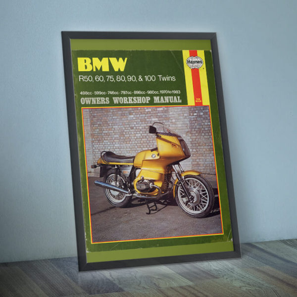 BMW R Twins framed (not included!)