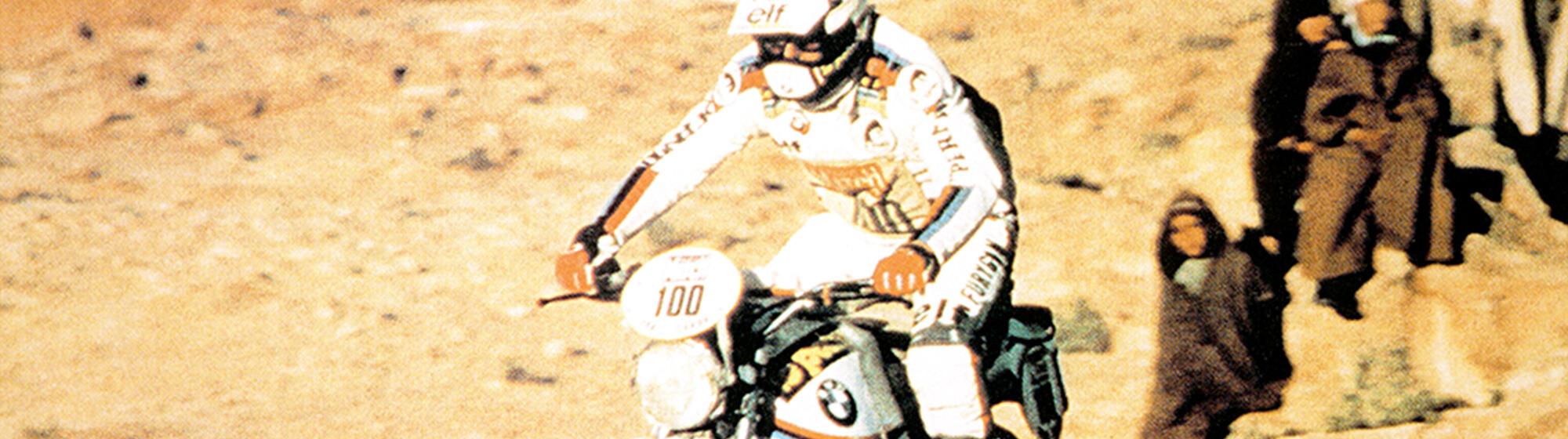 Paris-Dakar rally 1981: the first BMW GS 800 airheads at the start