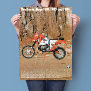 BMW R100G/S Gaston Rahier Paris-Dakar 1985 | Poster