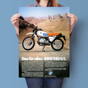 BMW R80G/S 'Red & White' advertisement | Poster