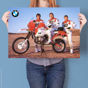 BMW R100G/S Gaston Rahier Paris-Dakar Team | Poster